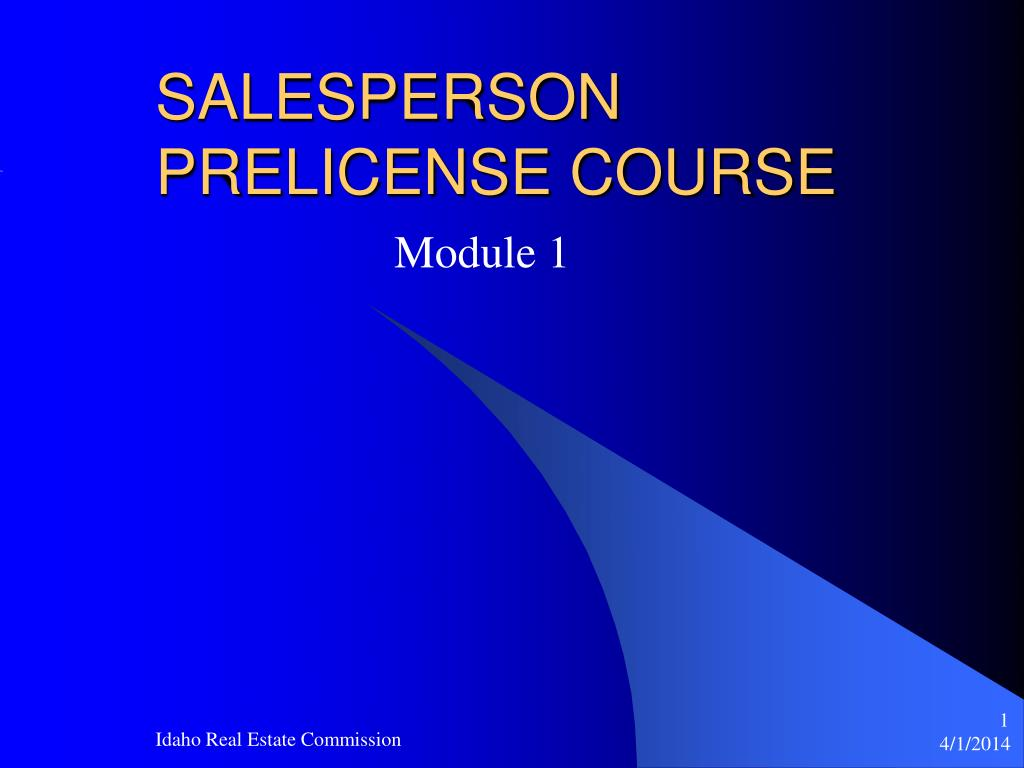 salesperson prelicense course l.