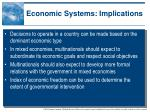 economic systems implications