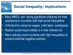 social inequality implications