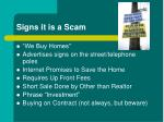 signs it is a scam