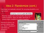 idea 2 randomize cont