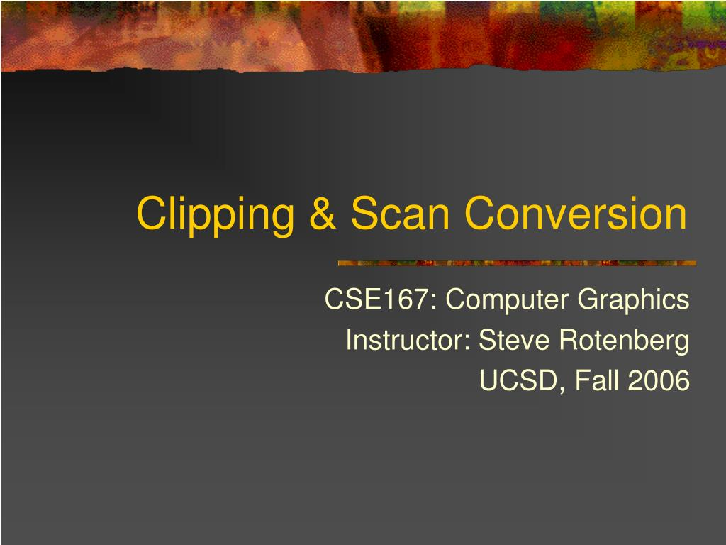 clipping scan conversion l.