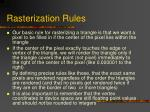 rasterization rules