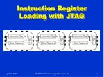 instruction register loading with jtag
