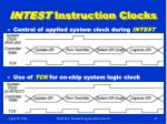 intest instruction clocks