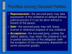 priorities among secured parties