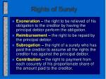 rights of surety