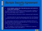 sample security agreement cont17