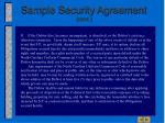 sample security agreement cont18