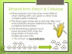 ethanol from starch cellulose
