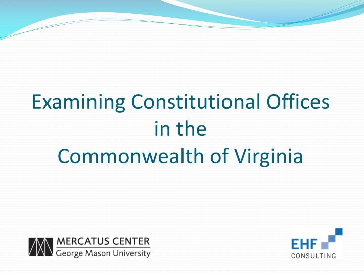 examining constitutional offices in the commonwealth of virginia n.