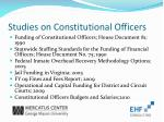 studies on constitutional officers