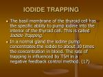 iodide trapping