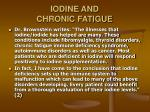 iodine and chronic fatigue