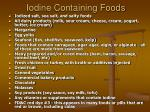 iodine containing foods