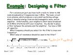 example designing a filter
