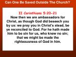 can one be saved outside the church10