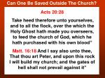 can one be saved outside the church17