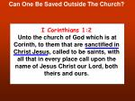 can one be saved outside the church19