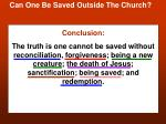 can one be saved outside the church25