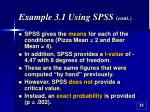 example 3 1 using spss cont31