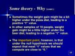 some theory why cont