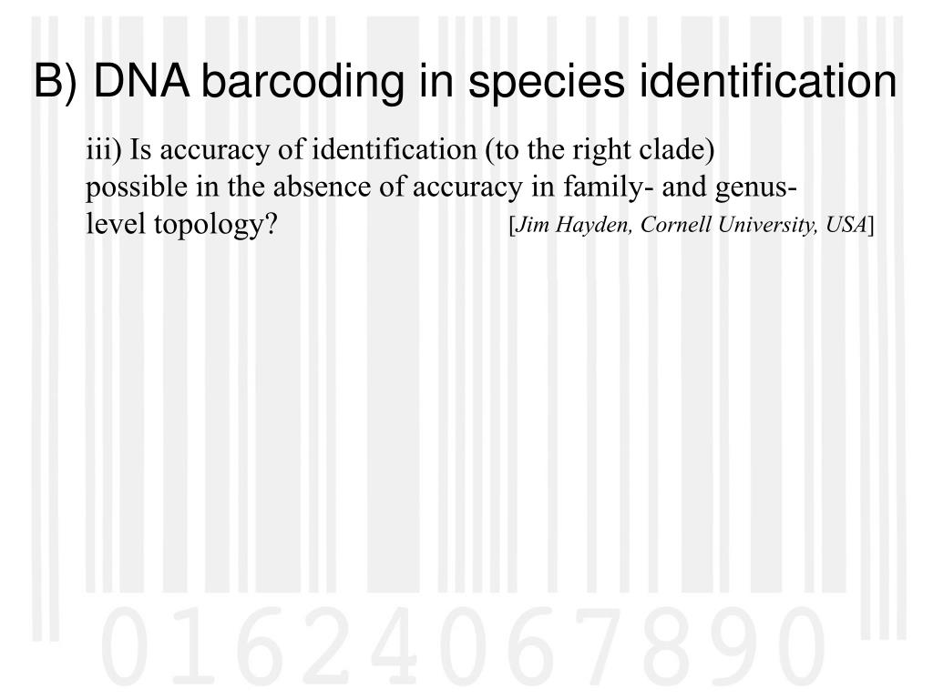 iii) Is accuracy of identification (to the right clade) possible in the absence of accuracy in family- and genus-level topology?