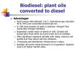 biodiesel plant oils converted to diesel