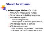 starch to ethanol