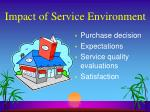 impact of service environment