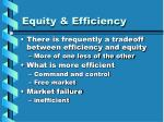 equity efficiency18