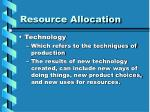 resource allocation6