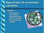spectrum of economic systems