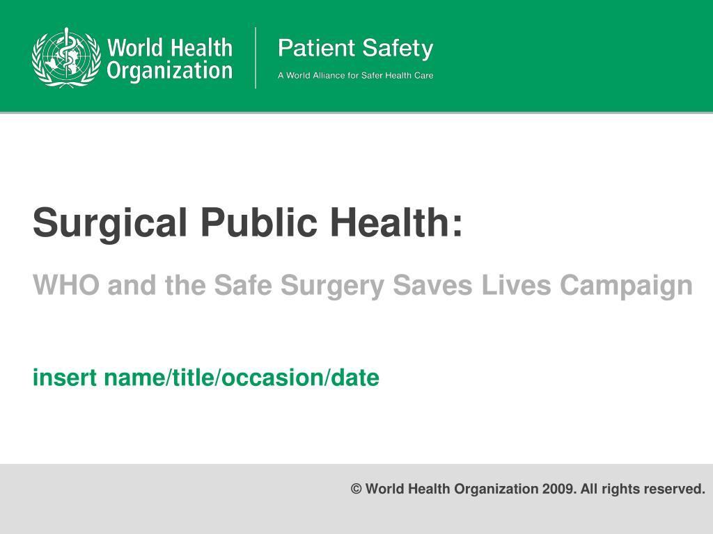 surgical public health l.