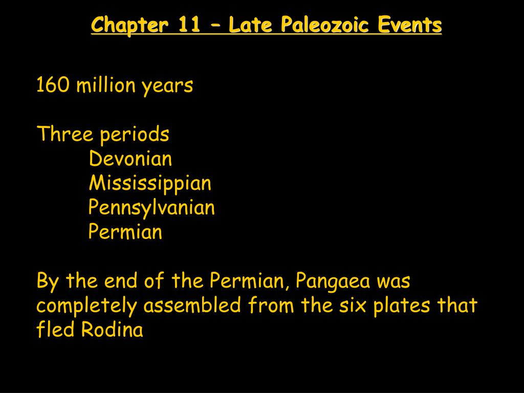 chapter 11 late paleozoic events l.