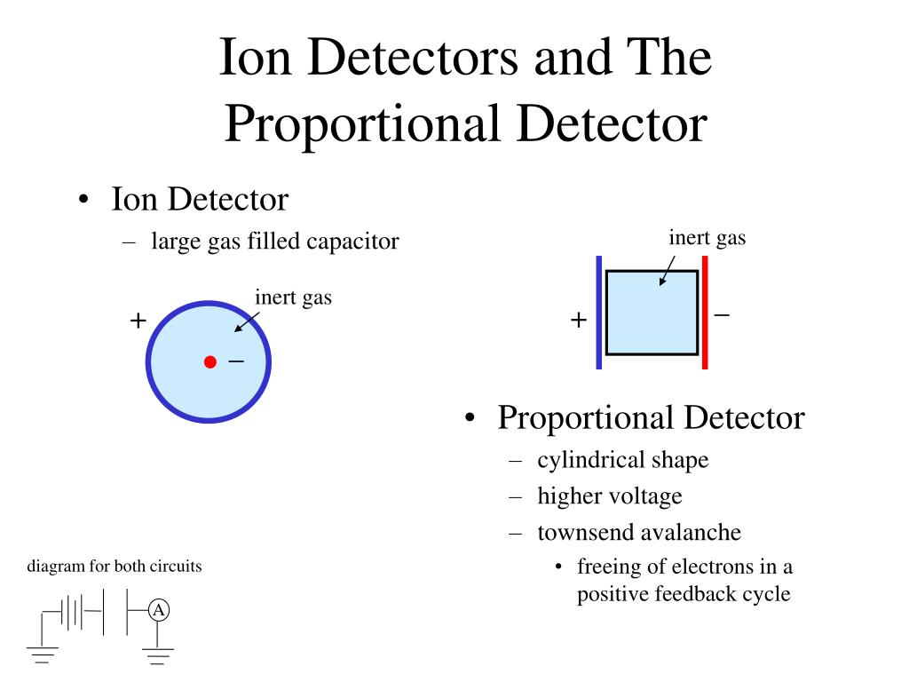 ion detectors and the proportional detector l.
