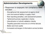 administration developments36