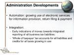 administration developments38