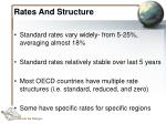 rates and structure