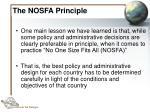the nosfa principle