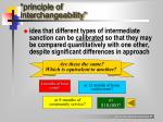 principle of interchangeability