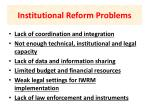 institutional reform problems