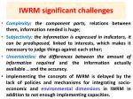 iwrm significant challenges