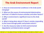 the arab environment report