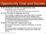 opportunity cost and society