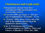 christiansen and leigh study