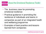 about the emotional resilience toolkit