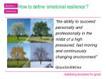 how to define emotional resilience