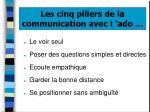 les cinq piliers de la communication avec l ado