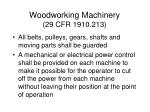 woodworking machinery 29 cfr 1910 213